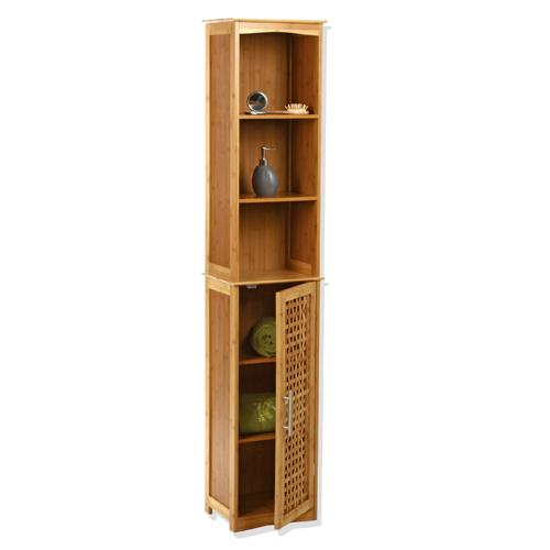 Tag re colonne de rangement pour salle de bain bambou - Colonne plastique rangement ...