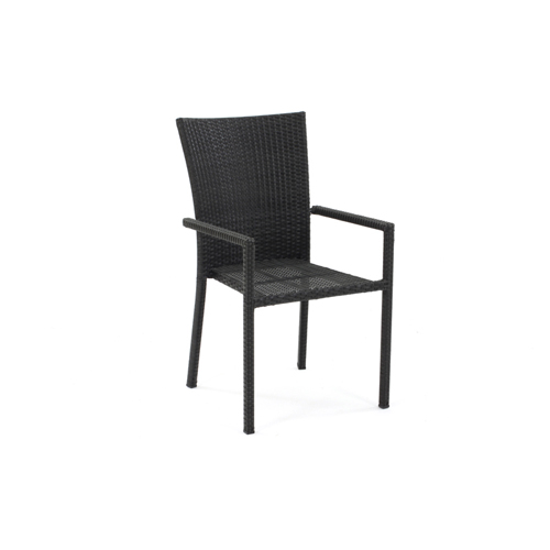 fauteuil de jardin ubud resine tressee noir ebay. Black Bedroom Furniture Sets. Home Design Ideas