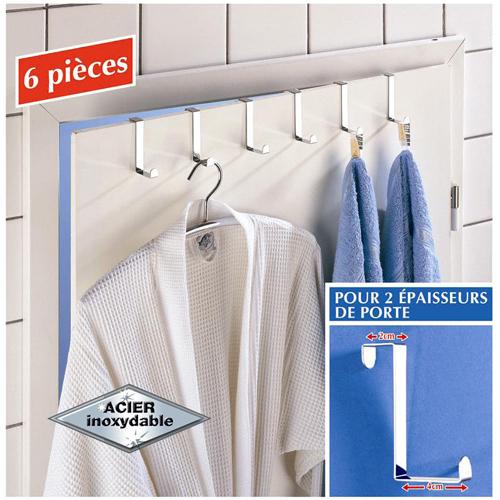 wenko crochets vetements pour porte acier inox ebay. Black Bedroom Furniture Sets. Home Design Ideas