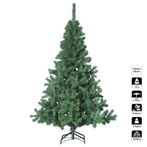 Sapin de Noël artificiel Elegant H 120 cm Vert